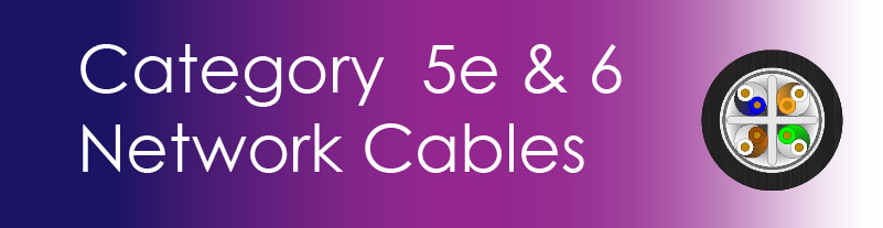 Cat5e & Cat6 Network Cables